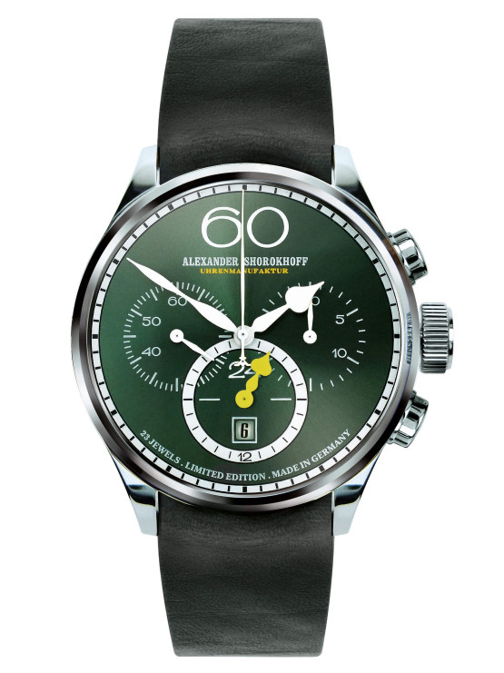 "Alexander Shorokhoff - VINTAGE 2 - ""Twenty four Chrono"" - Emerald"