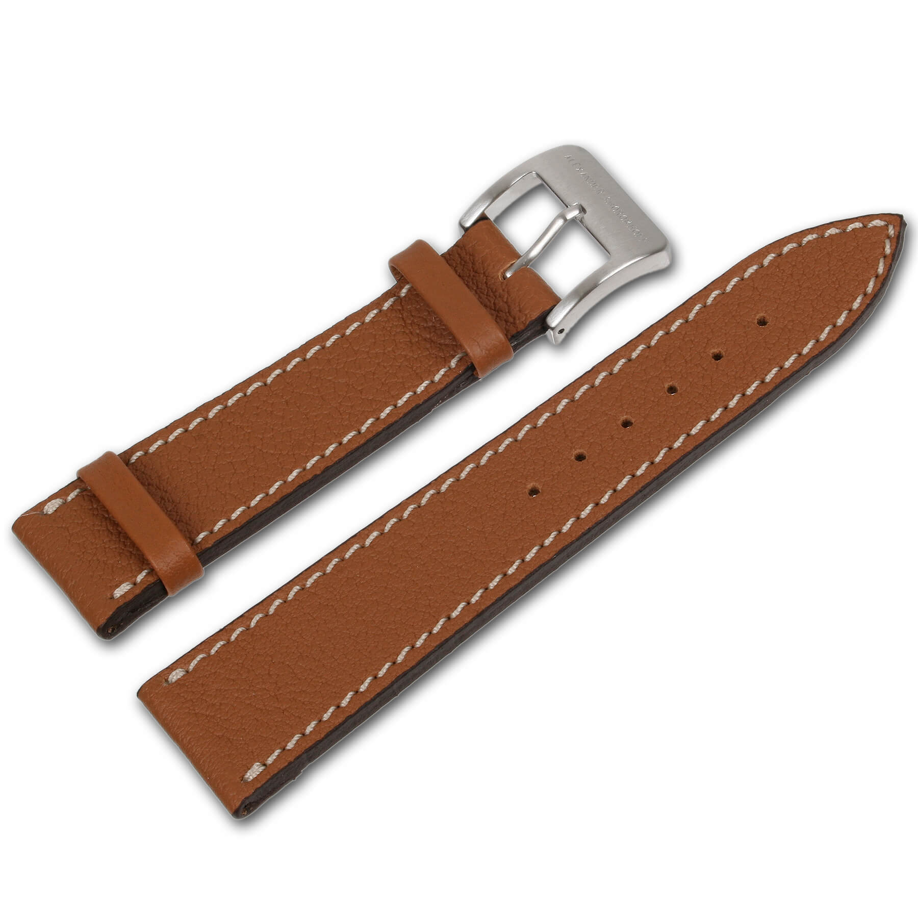 Alexander Shorokhoff - Leather strap from shrunken calf leather - Brown