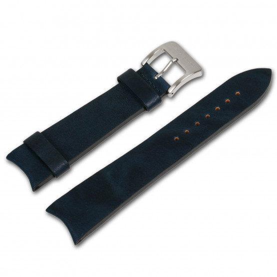 Alexander Shorokhoff - Calfskin strap with vintage look - Blue