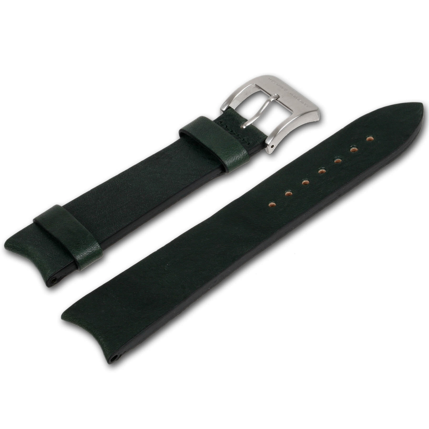 Alexander Shorokhoff - Calfskin strap with vintage look – Green
