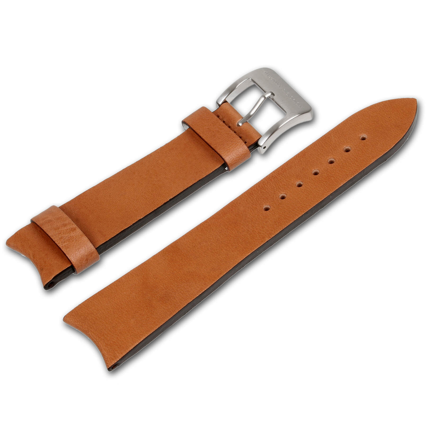 Alexander Shorokhoff - Calfskin strap with vintage look – Light Brown