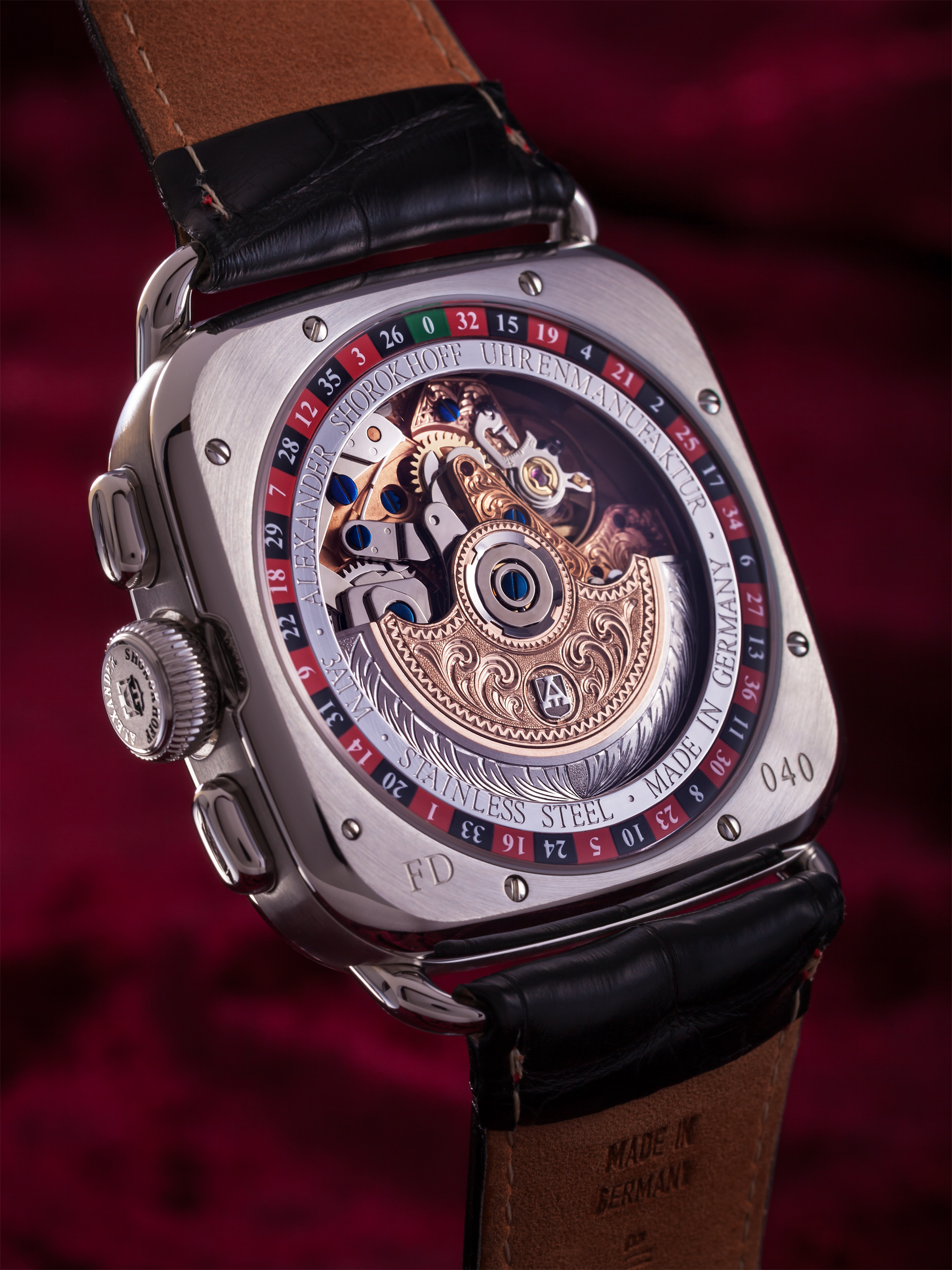 Automatic winding chronograph – Dostoevsky – Silver