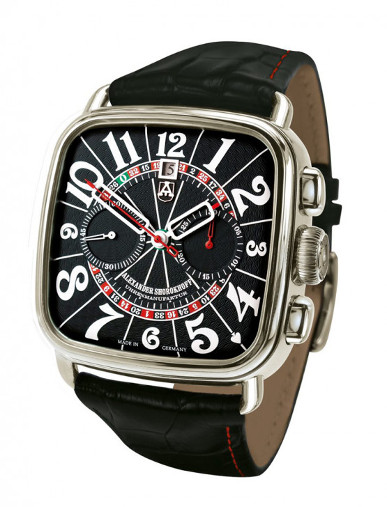 Alexander Shorokhoff - Manual winding chronograph – Dostoevsky – Black